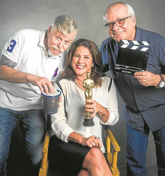 Miguel Falabella, Christiane Pelajo e Artur Xexéo  (Foto: TV Globo / João Miguel Junior)