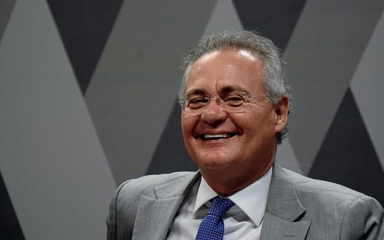 O presidente do Senado Renan Calheiros (Foto:  MATEUS BONOMI/AGIF/ESTADÃO CONTEÚDO)