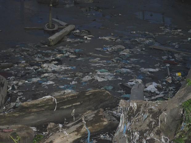 Prefetura anunciou estar realizando mutirão de limpeza na orla de Macapá (Foto: Dyepeson Martins/G1)