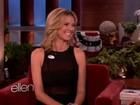 Sorridente, Heidi Klum fala sobre novo namorado na TV: 'Estou muito feliz'