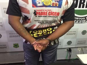 Emílio Walter , preso no município de Itabaiana. (Foto: Tássio Andrade/G1)