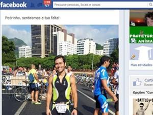 Ciclista Pedro Nikolay foi atropelado em Ipanema (Foto: Reprodução/Facebook)