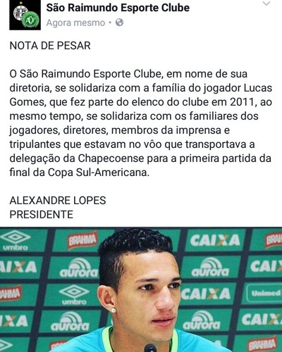 São Raimundo destacou participação do atacante Lucas Gomes em 2012 (Foto: São Raimundo/Ascom/Divulgação)
