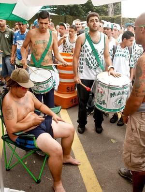 Protesto torcedores Palmeiras (Foto: Rodrigo Coca / Ag. estado)