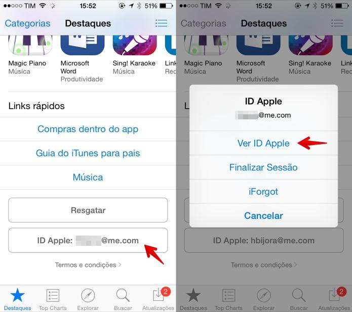 Acesse as configurações da sua conta na App Store (Foto: Reprodução/Helito Bijora)