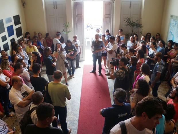 Prefeitura de Natal foi ocupada na manhã desta quinta-feira  (Foto: Sindsaúde/Divulgação)