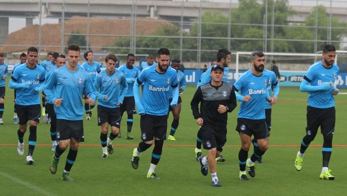 Rogério Dias preparador físico Grêmio grupo jogadores (Foto: Eduardo Moura/GloboEsporte.com)