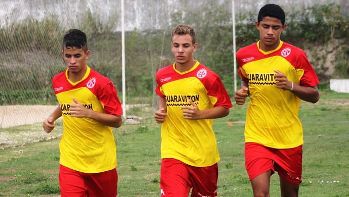 Anthony, Renato e Denilson - América-RN (Foto: Canindé Pereira/Divulgação)