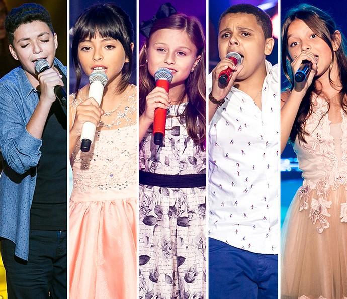 Participantes mais vistos da fase de Shows ao Vivo do The Voice Kids (Foto: Isabella Pinheiro/Gshow)