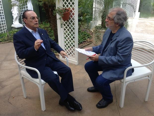 Entrevista vai ao ar no sábado, às 21h (Foto: Globo/ Aldrin Luciano Gazio)