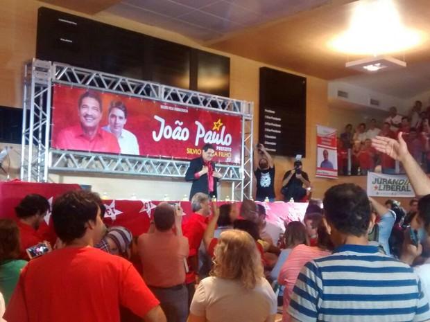 João Paulo é o candidato do PT para prefeito do Recife este ano (Foto: Antônio Coelho/TV Globo)