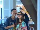 Preta Gil usa mala no valor de R$ 16 mil para embarcar no Rio