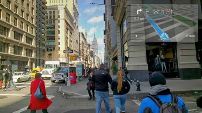 Glass me guiando pelas ruas até a chegada do endereço (Foto: Márcio Cyrillo/ TechTudo)