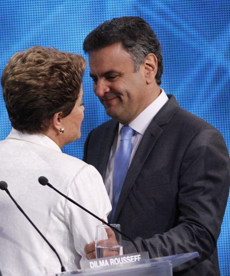 Dilma Rousseff e Aécio Neves (Foto: Fernando Donasci / Agência O Globo)