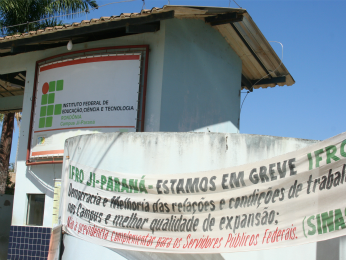 Campus do Ifro de Ji-Paraná está em greve desde junho (Foto: Valéria Reis/G1)