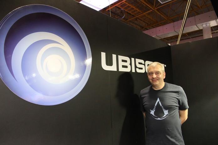 Martin Capel conversou com o TechTudo na BGS 2014 (Foto: Diego Borges/ TechTudo)