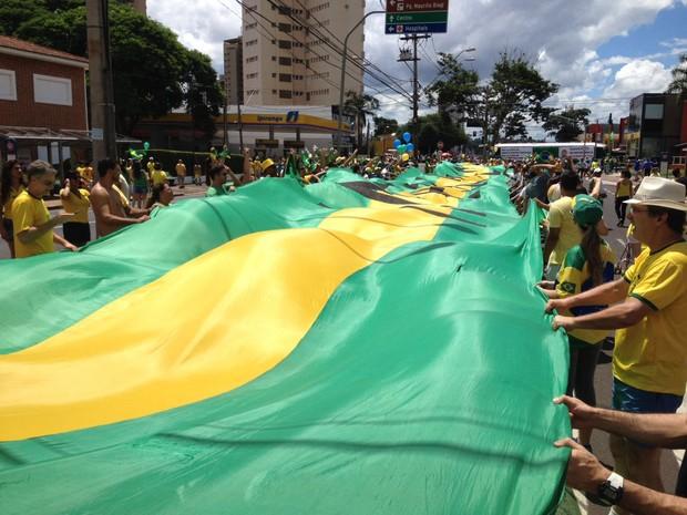 Manifestação contra a presidente Dilma em Ribeirão Preto, SP (Foto: Érico Andrade)