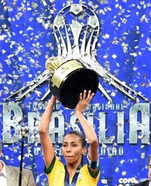 Bruna Benites, Brasil x EUA, futebol feminino (Foto: AFP)