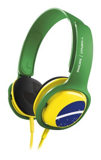 Philips lança fone de ouvido nas cores do Brasil (Foto: Divulgação) (Foto: Philips lança fone de ouvido nas cores do Brasil (Foto: Divulgação))