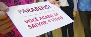 TV TEM homenageia doadores de sangue em campanha especial (Reprodução/TV TEM)