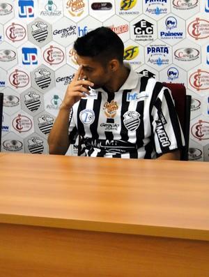 Richard Falcão, atacante do Comercial (Foto: João Fagiolo)