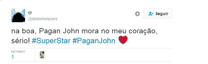 Pagan John Twitter (Foto: Reprodução internet)