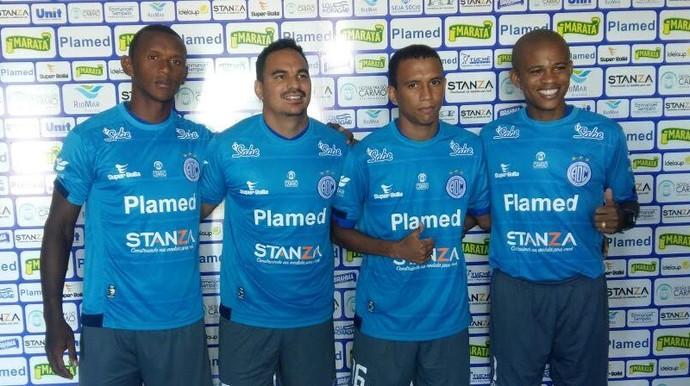 Confiança, apresentação, Mimica, Careca, Pingo e Gil Mineiro (Foto: Elder Santos / ADC)