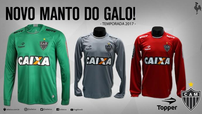 Atlético-MG e Topper ainda vão lançar a coleção 2017 de uniformes; lançamento ainda não tem data (Foto: Divulgação)