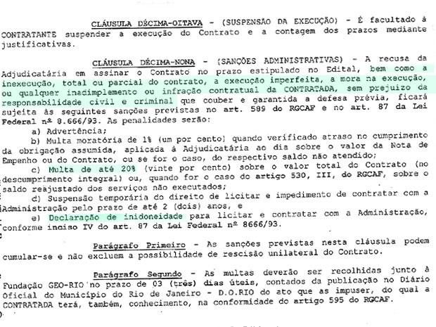 G1 obteve contrato entre Prefeitura do Rio e o consórcio construtor da ciclovia Tim Maia, na Zona Sul do Rio (Foto: Reprodução)