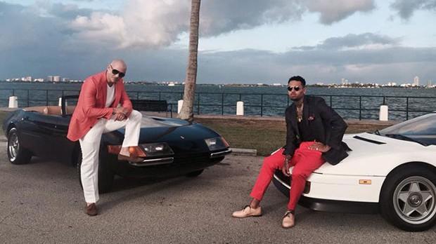 Pitbull e Chris Brown gravam clipe para 'Fun' em Miami; veja fotos (Foto: Divulgao)