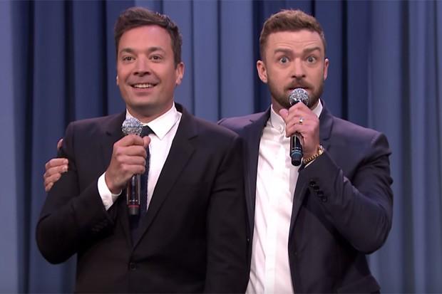 Jimmy Fallon e Justin Timberlake revisitam clássicos do rap (Foto: Reprodução/Youtube)