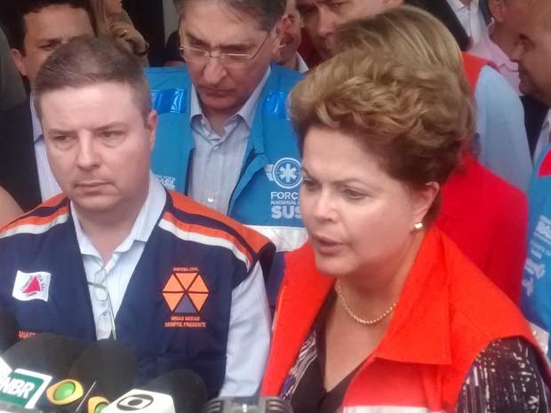 Dilma Roussef anunciou que o Governo Federal vai ajudar Virgolândia e outros municípios do Leste de Minas. (Foto: Diego Souza/G1)