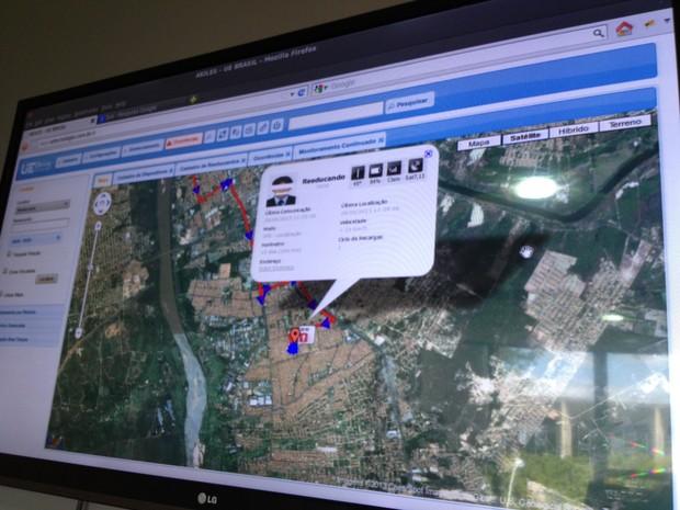 Presos serão monitorados através de GPS (Foto: Gilcilene Araújo/G1)