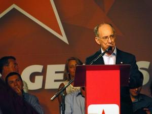 Rui Falcão disse que STF não pode se comportar como 'partido político'. (Foto: Pedro Ângelo/G1)
