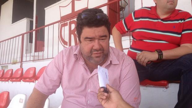 Marcos Lima Verde, supervisor de futebol do CRB (Foto: Henrique Pereira/ Globoesporte.com)