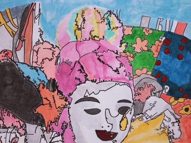 Todos os quadros do artista plástico são feitos em aquarela sobre o papel (Foto: Divulgação)