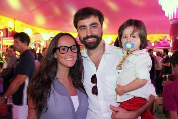 Ricardo Pereira e familia no Circo Tihany (Foto: Cleomir Tavares/Mural da Fama/Divulgação)