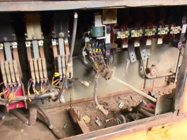 Maquinário teve peças levadas em furtos na  Zamin (Foto: Reprodução/Rede Amazônica no Amapá)