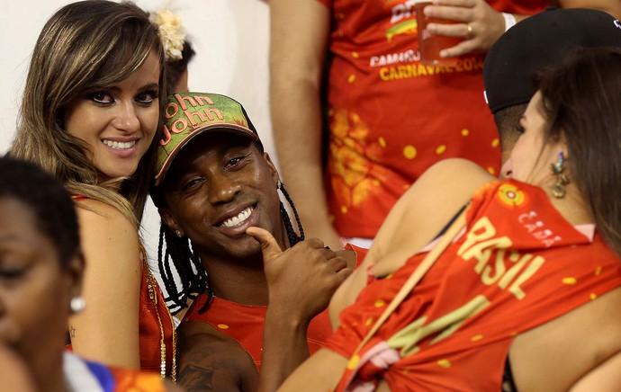 Arouca santos carnaval São paulo (Foto: Marcos Ribolli / Globoesporte.com)