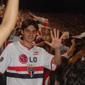 Luiz no jogo do pentacampeonato brasileiro do São Paulo, em 2005 (Foto: Arquivo pessoal)