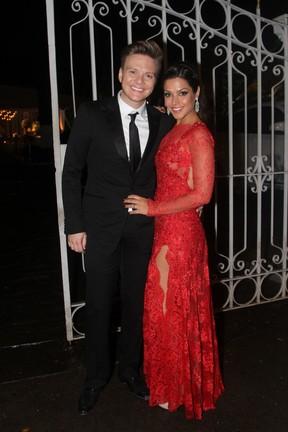 Michel Teló e Thais Fersoza em casamento em São Paulo (Foto: Thiago Duran/ Ag. News)