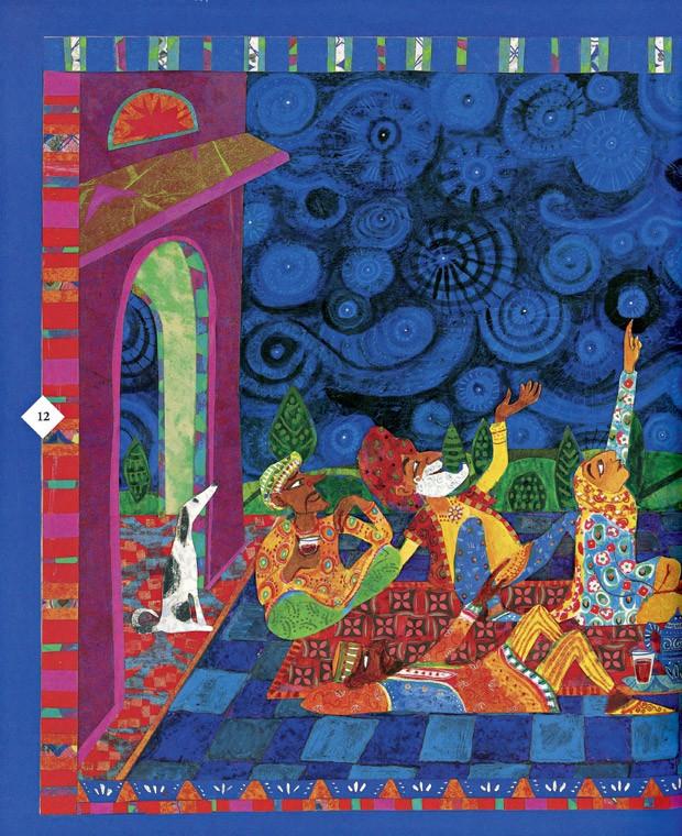 Fábulas do Mundo Islâmico, Texto de Shahrukh Husain e ilustrações de Micha Archer, WMF, R$ 59,90. A partir de 7 anos. (Foto: Reprodução)