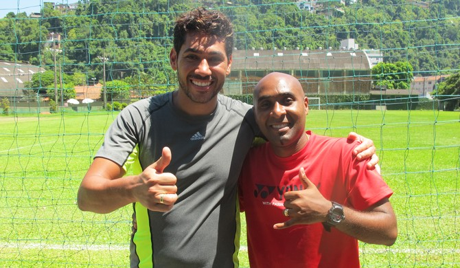 Adiel e Rodrigão (Foto: Antonio Marcos)