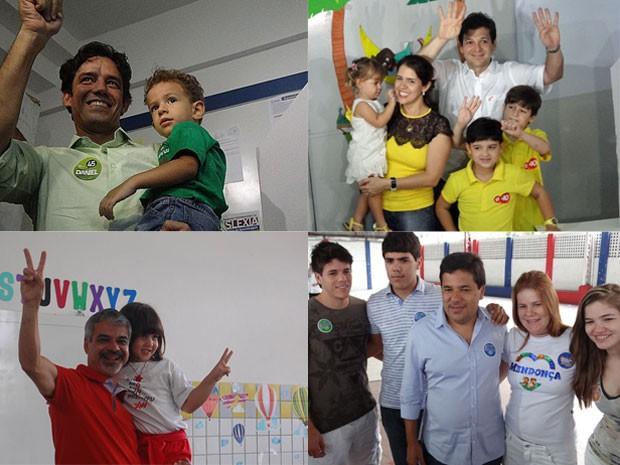 Daniel, Geraldo, Humberto e Mendonça votam no Recife (Foto: G1 PE)