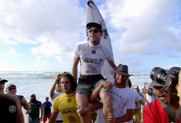 Mick Fanning campeão QS Sunset Beach (Foto: Reprodução WSL)