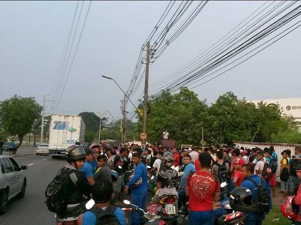 Ato ocorreu na Avenida Coronel Teixeira (Foto: Divulgação/Manaustrans)