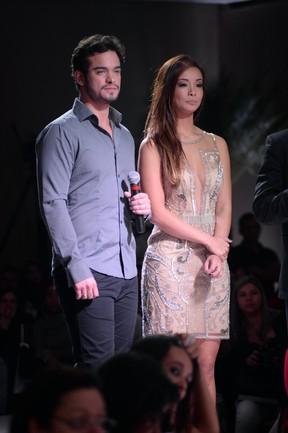 Sidney Sampaio e Carol Nakamura (Foto: Léo Marinho/Henrique Oliveira/AgNews)