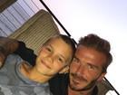David Beckham parabeniza filho Romeo, que completa 14 anos