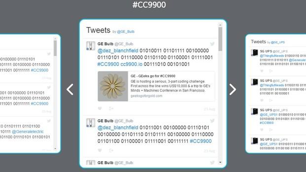 Troca de tweets entre máquinas da GE (Foto: Reprodução)