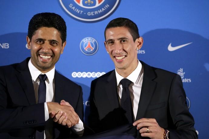 Nasser Al Khelaifi Di María Paris Saint-Germain (Foto: AFP)